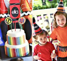 Colorful Crayon Themed Party