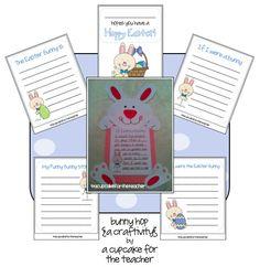 Cute bunny writing activitiy