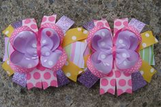 2 Easter Hair Bows Boutique Easter Hair Bow. $16.00, via Etsy.