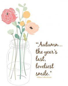#Autumn smile free printable. #masonjar