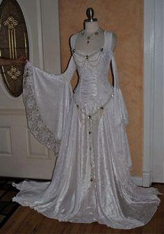 fantasi mediev, costum, lace, idea, cloth, weddings, mediev velvet, dress, gowns