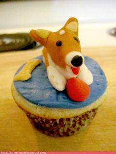 corgi art, corgi addict, cake stuff, cupcakes, food, corgicupcak, corgi cupcak, doggi cupcak, corgilici