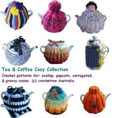 -Tea Cosy Crochet Pattern Collection by crochetroo on Etsy
