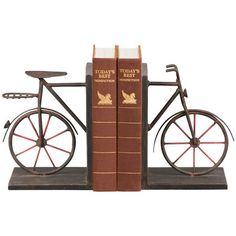 This is awesome.    I pinned this 2 Piece Bicycle Bookend Set from the DecorChick! event at Joss and Main!