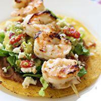 Grilled Shrimp Tostadas by Skinny Taste