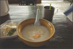 #jok sai kai or rice porridge Thai style http://flic.kr/p/bjUy9t