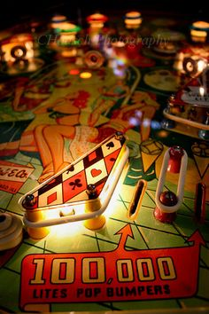 Pinball Machine Pin Up Girls  Colorful by CHaaschPhotography, $22.00