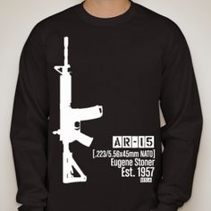 AR15 gun shirt screen printed shirt