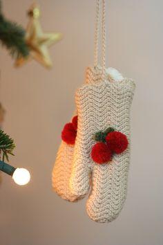 Cherry mittens ornament