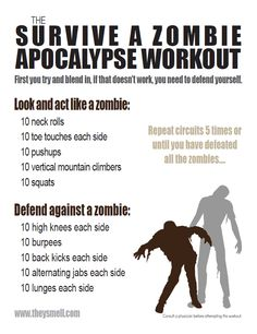 Zombie Apocalypse Workout (The Walking Dead workout)