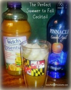 Simple Cocktail Recipes - PInnacle Caramel Apple and OJ