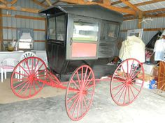 Antique Horse Drawn Carriage Enclosed Postal Buggy By AHLBRAND CARRIAGE Co.