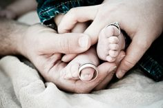 baby toes and wedding rings =)