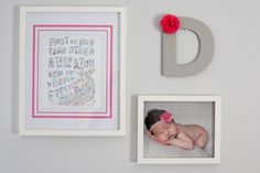 Cute wall display for nursery