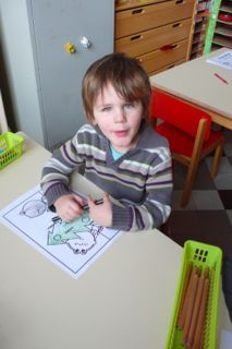 Kleuren in de Bijenklas in de H. Conscienceschool in Oostende