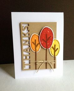Perfect thank you card by Lisa Adessa using Simon Says Stamp Exclusives from the 2014 Stamptember release.