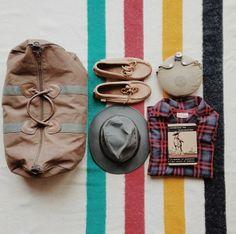 Vintage #LLBean duffle bag on Hudson's Bay Blanket.
