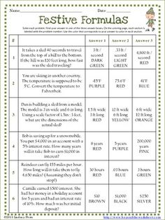 This 10 question worksheet is a fun way for students to practice or ...