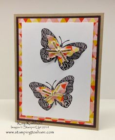 Well Worded - Butterflies - Clean and Simple with How To Video *** ONE WEEK Starter Kit Special!!, Kay Kalthoff is Stamping to Share with Stampin' Up!, Well Worded Class Kit to Go