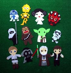 Star Wars felt people! kids shirts, stars, starwar, war felt, felt ornaments, appliqu, gift idea, custom infant, felt star wars