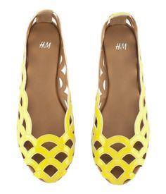 neon yellow hm ballet slippers.