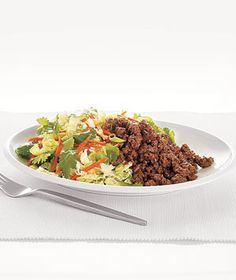 Asian Beef and Cabbage Salad recipe from realsimple.com #myplate #protein #vegetables