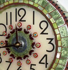 Old clock / Mosaic tiles around....