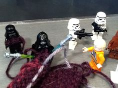 """These things make the BEST knitting needles!"" star wars"