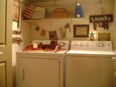 Cute laundry room.