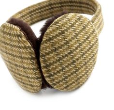'West of England' tweed earmuffs by The Merchant Fox, made from Fox Brothers' fabric #themerchantfox