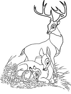 Bambi Was Asleep With Her Mother Coloring Pages