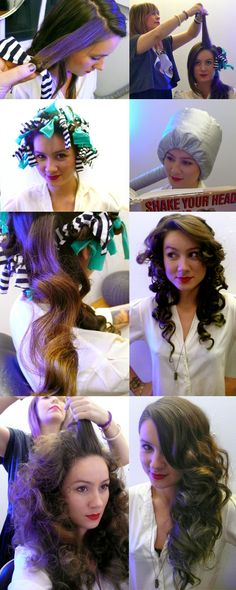 hair curl tutorial