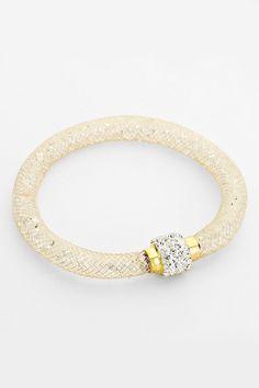 Crystal Filled Bracelet in Gold