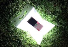 LuminAID waterproof, inflatable solar lamp – providing light to disaster victims. . . .so cool!!