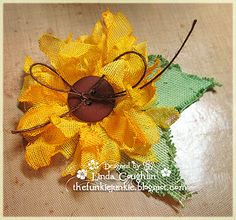 The Funkie Junkie: Crinoline Sunflower Tutorial