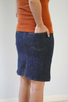Denim skirt tutorial - Melly Sews
