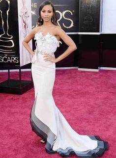Zoe Saldana in Alexis Mabille Couture #Oscars2013