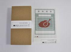 Dindon turkey needlepoint kit DIY embroidery by Kasia Urban Rybska