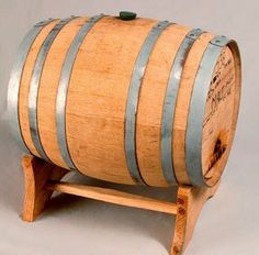 5 gallon used whiskey barrel for barrel aged beers, yum.
