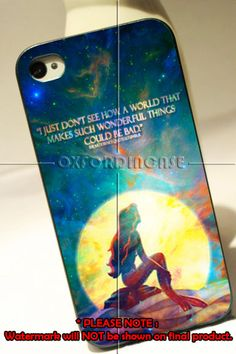 The Little Mermaid Ariel Quotes in the moon light - for iPhone 4/4S case iPhone 5 case hard case hard cover on Etsy, $15.60