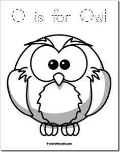 Owl coloring and activity ideas.