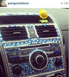 bedazzled car interior // If this was done better, this could be cute.