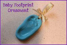 DIY Baby Footprint Ornament