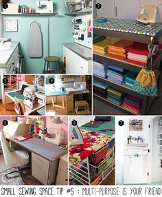 Small sewing space tip #5 : Multi-purpose is your friend