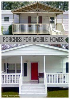 manufactured home porch, porch idea, front porches