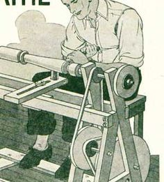 Plans for a treadle-operated lathe, but the treadle can actually be applied to ANY rotary-powered project (bellows for blacksmithing, operating a sewing machine, etc).
