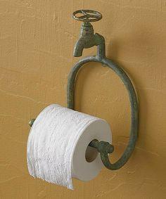 Water Faucet Toilet Tissue Holder #zulily #zulilyfinds
