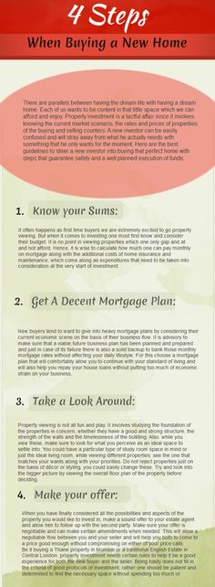 4 Steps When Buying A New Home
