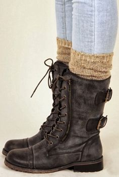 Amazing Dark Brown Leather Boots
