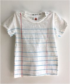 Blue and white tee